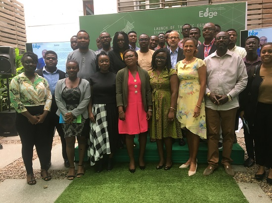 Jury members, partners and participants at the launch of the EDGE competition