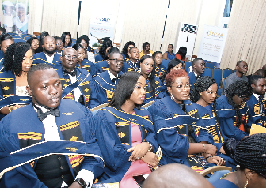 Some of the graduands at the ceremony.