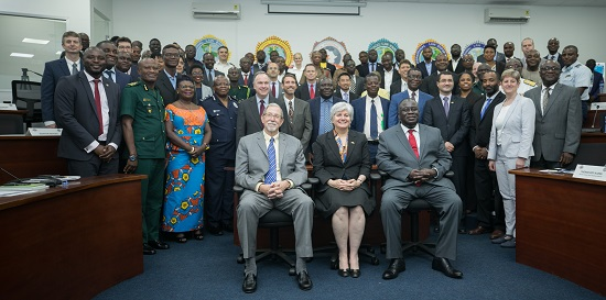 Ambassador Stephanie Sullivan(seated middle) with other dignitaries