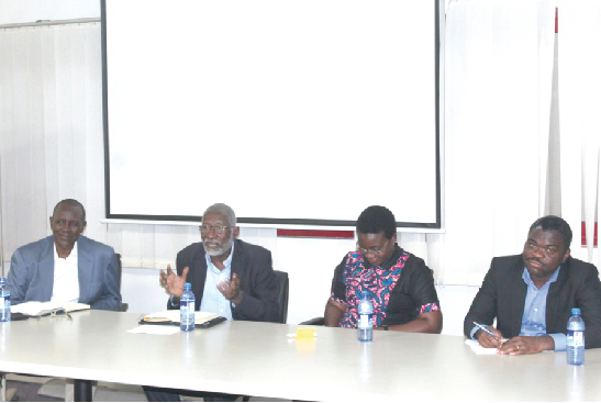 (L-R)  Mr Eric Akumiah, Open Data Expert, Prof. Nii Quaynor, the Chairman, Ghana Dot Com, Mrs Awo Aidam Amenyah, the Executive Director, Child Online Africa and Dr Herbert Gustav Yankson, Head, Cybercrime UnIt-CID, addressed the participants at the forum