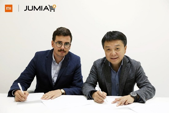 Romain Christodoulou (left), Senior Vice President, Jumia Group&Wang Xiang, Senior Vice President, Xiaomi Corporation