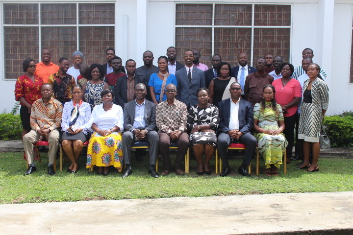 Dr Mrs Adelaide Agyeman, Deputy Director, CSIR-STEPRI (seated third left) with participants in the expert group meeting in Accra