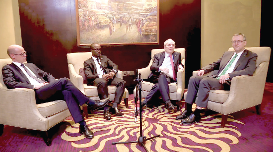 (L-R) Pierre Nasser, Senior Vice President of B. Braun Melsungen AG's Hospital Care Division for Middle East and Africa; Petty Nwinitcha Tanghanwaye Nmo, Managing Director of B. Braun Ghana; Prof. Dr Heinz-Walter Große, Group Chairman and CEO of B. Braun Melsungen AG; and Dieter Gemmer, Senior Vice President, Finance and Control of B. Braun Melsungen AG.