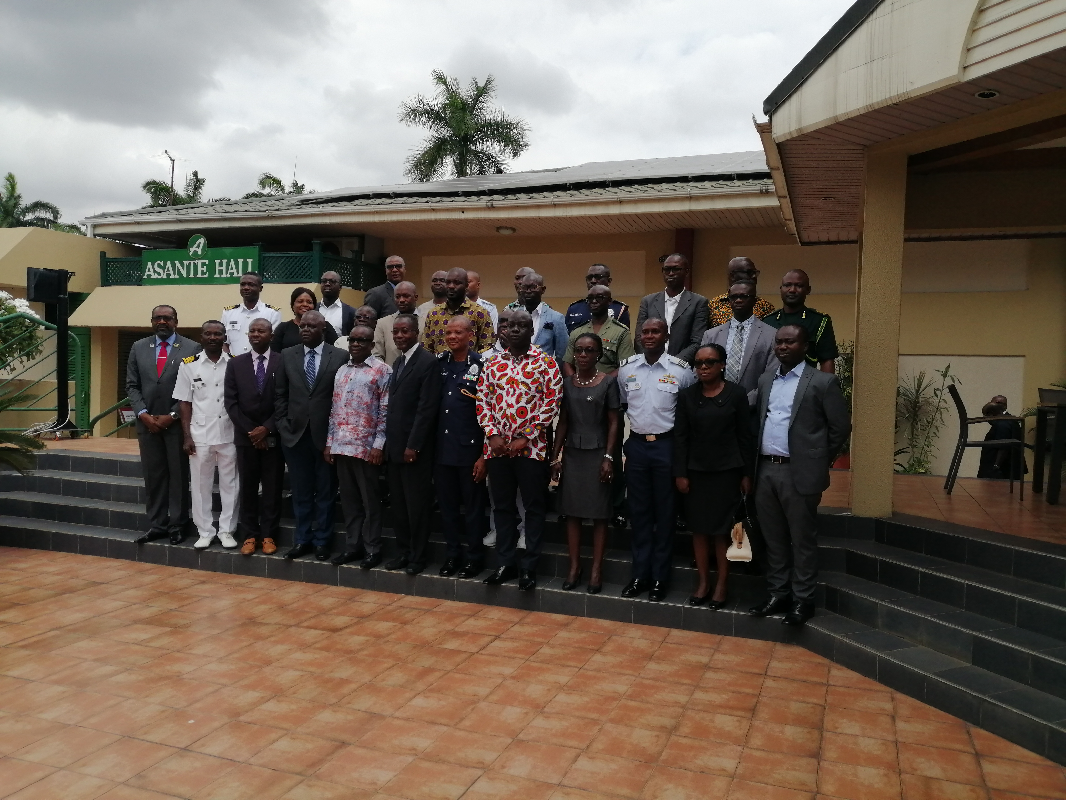 Stakeholders at the Ghana Maritime Security Strategy meeting.