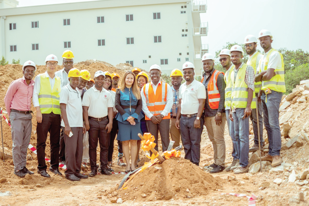 Staff of Golden Mainland and Green Park after the ground breaking ceremony